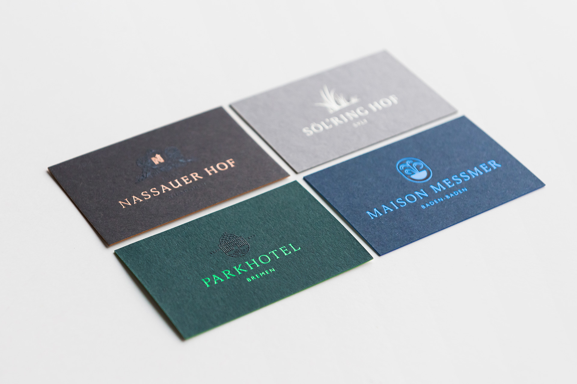 Hommage Rebranding Business Cards