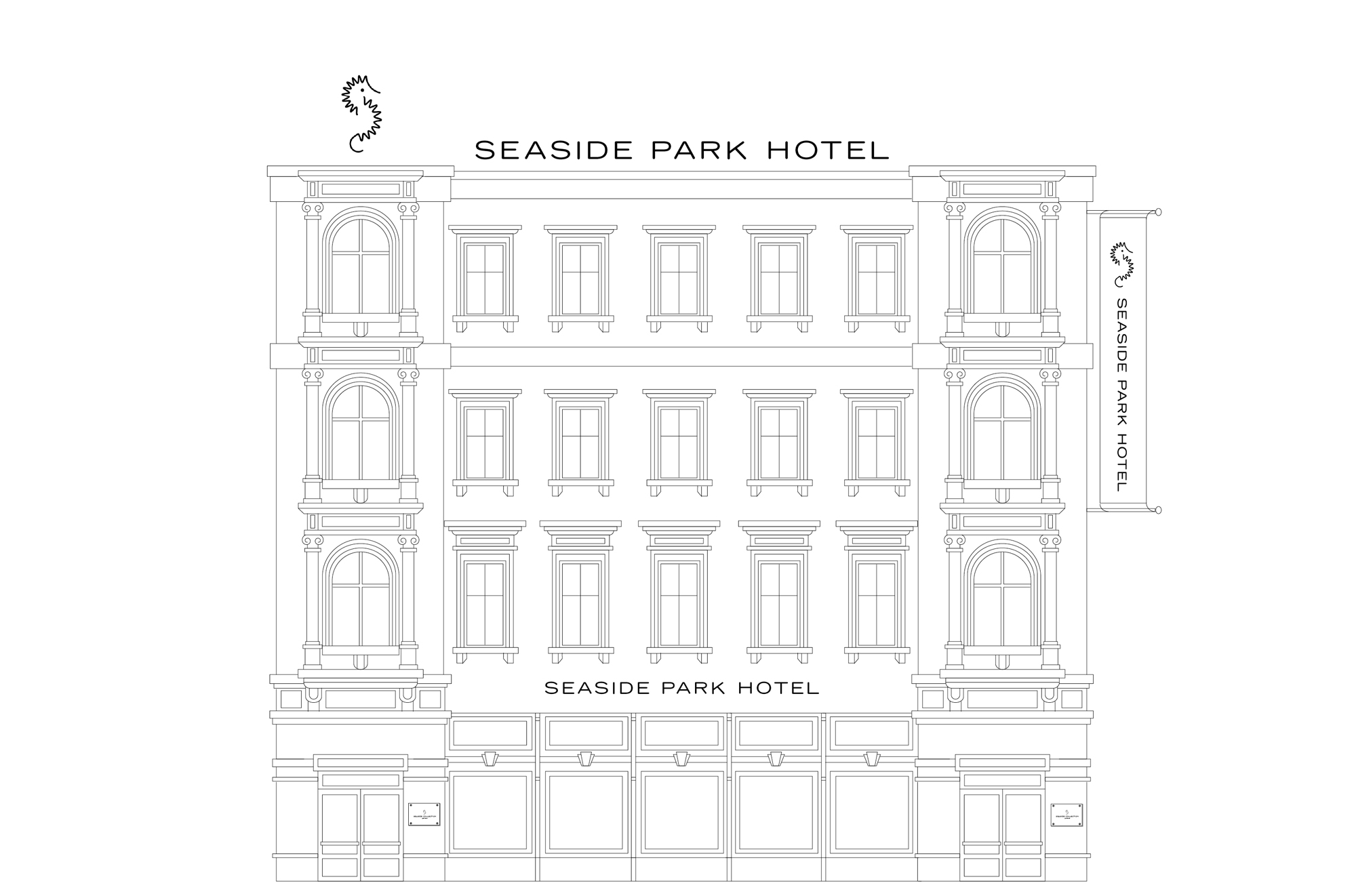 Seaside Collection Hotels Illustration